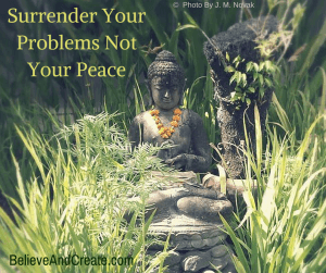 Surrender your problems, not your peace