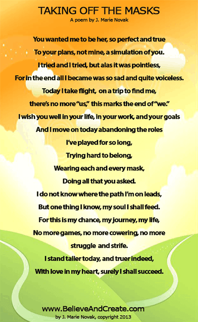 Taking Off the Masks -- A Poem
