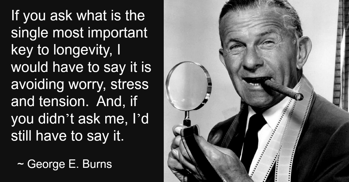 George Burns gives advice on longevity