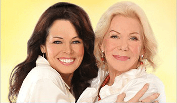 Cheryl Richardson and Louise Hay. Picture taken from their online course, You Can Trust Your life