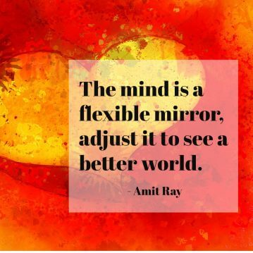 The mind is a flexible mirror