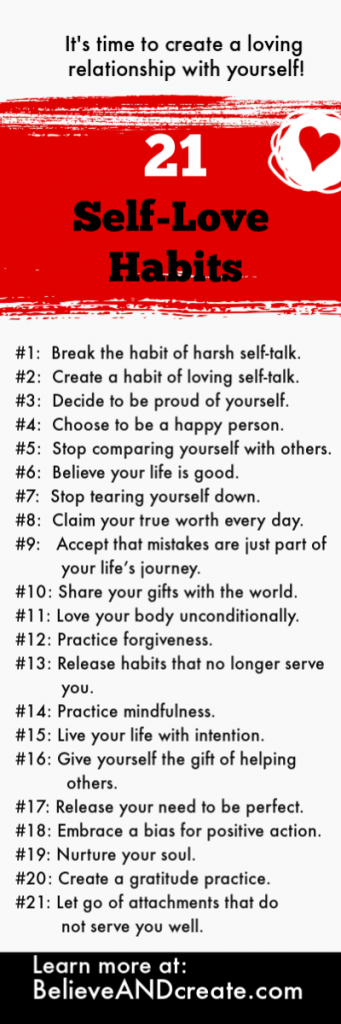 21 habits of self-love