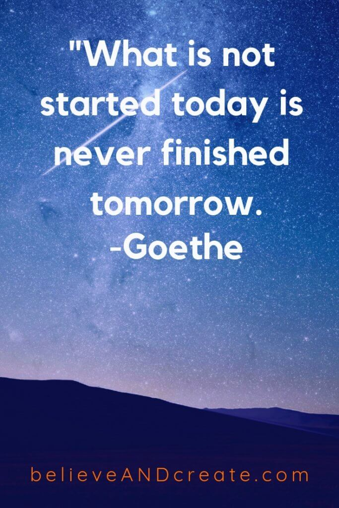 start today you don't have forever