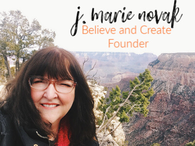 j marie novak founder of believe and create believe in yourself