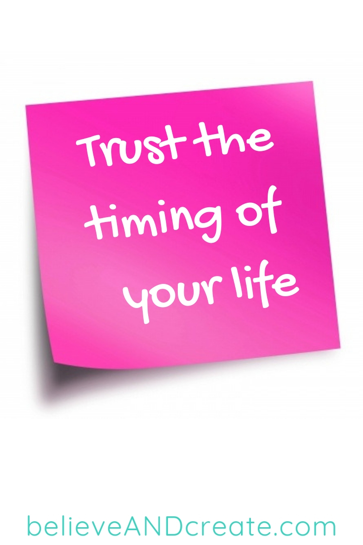 motivational saying - trust the time of your life