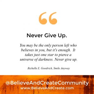 inspirational saying - never give up