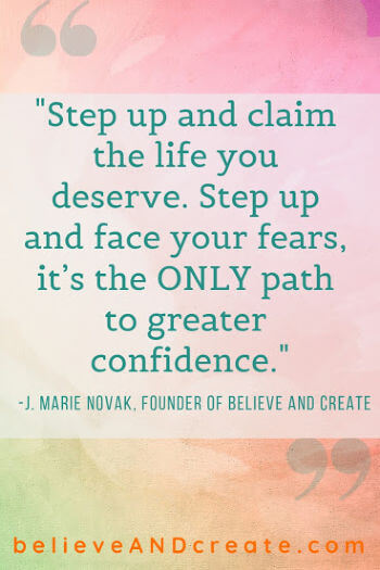 life quote about stepping up to claim the life you deserve