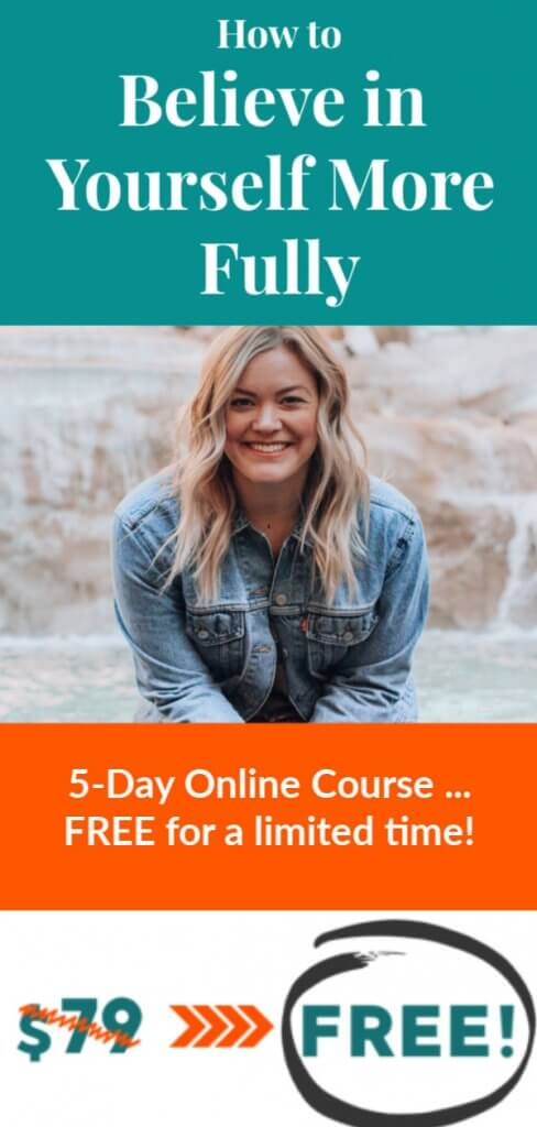 share on pinterest - Believe in yourself online course