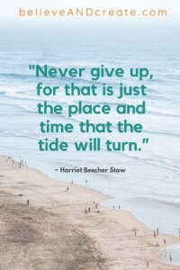 life quote - never give up