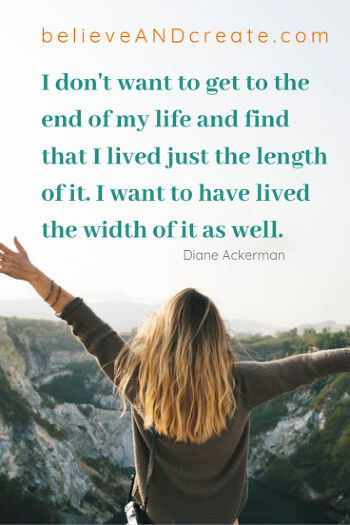 inspirational life quote - length of life