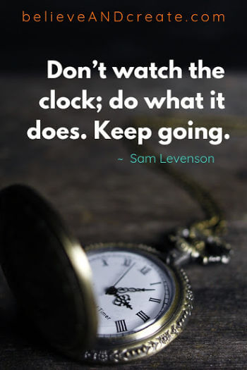 quote about time and keep going