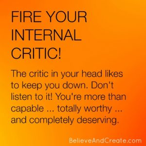 fire your internal critic