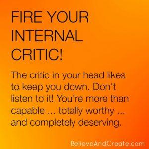 fire your internal critic
