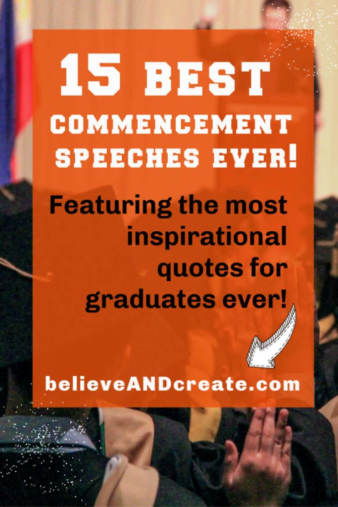 15 most inspirational graduation speeches of all time