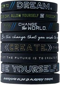 inspirational silicone braclet wristbands for graduates