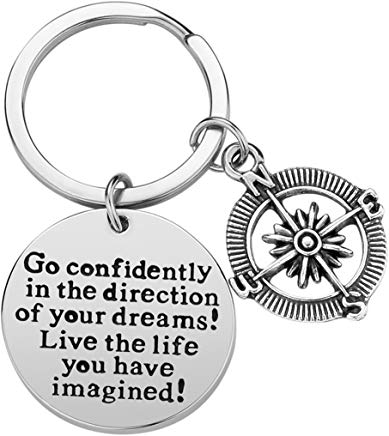 keychain - inspirational graduation gift under $10