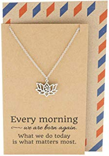 lotus necklace make each day count