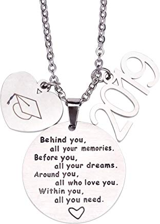 graduation necklace with cap and 2019 charms