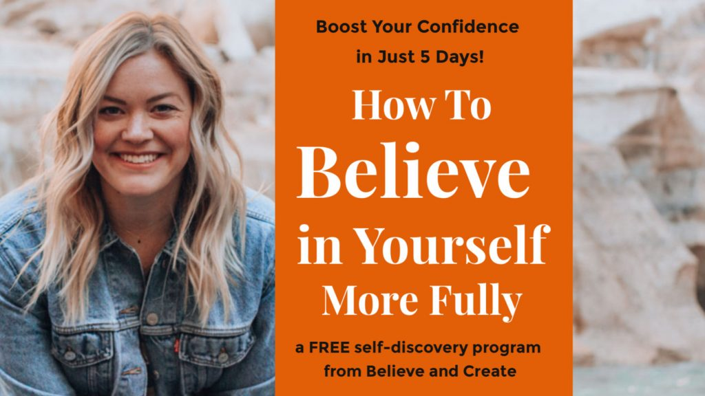 boost confidence - believe in yourself more fully free 5 day program course