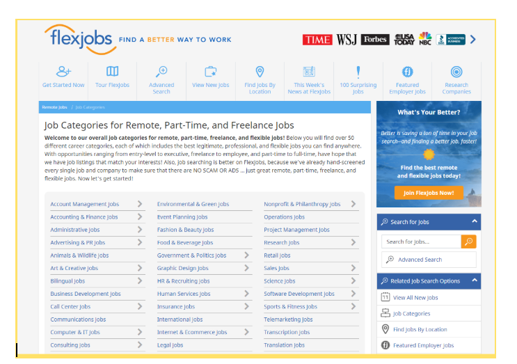 how to find a remote job on flexjobs