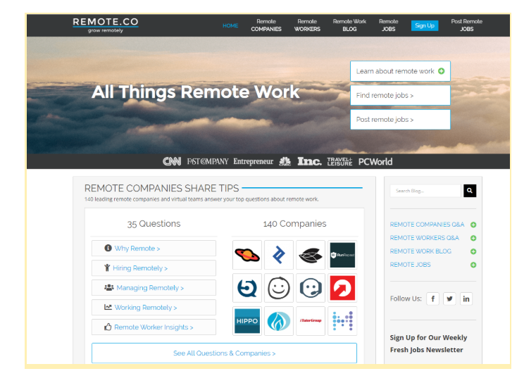 how to find a remote job on remote.co