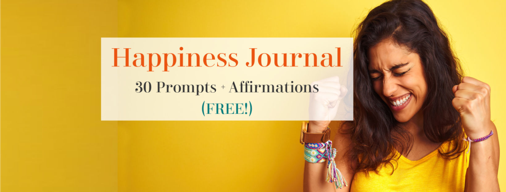 happiness journal and affirmations