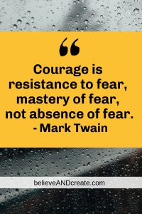 mark twain quote on courage as resistance to fear