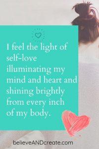 i feel the light of self-love -- affirmation 1