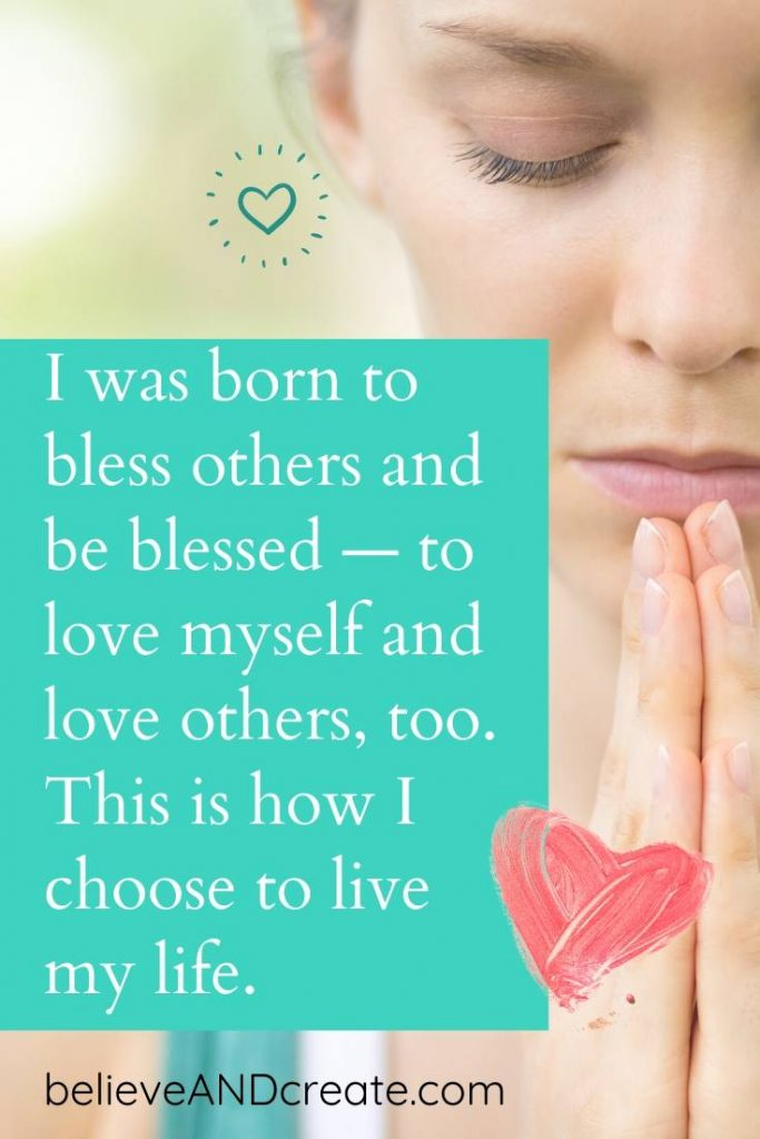 affirmation I was born to love and be loved