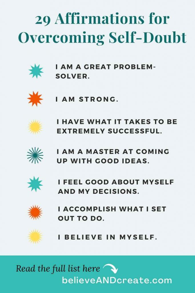 Overcoming self-doubt affirmations list