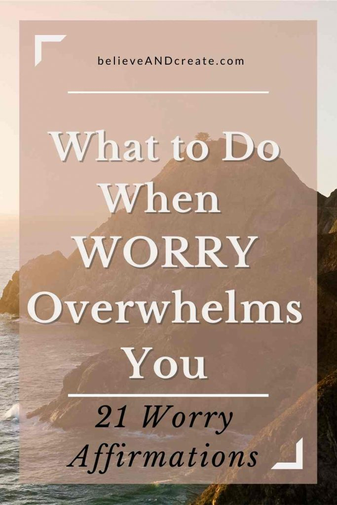shift from worry to peace and happiness affirmations