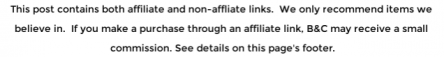 affiliate disclaimer notice