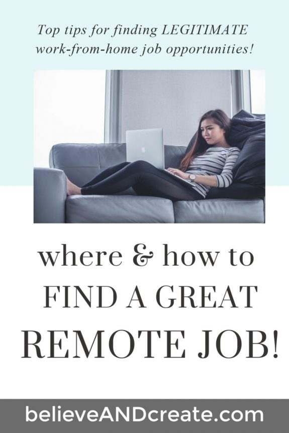 how to find a remote job so you can work from home