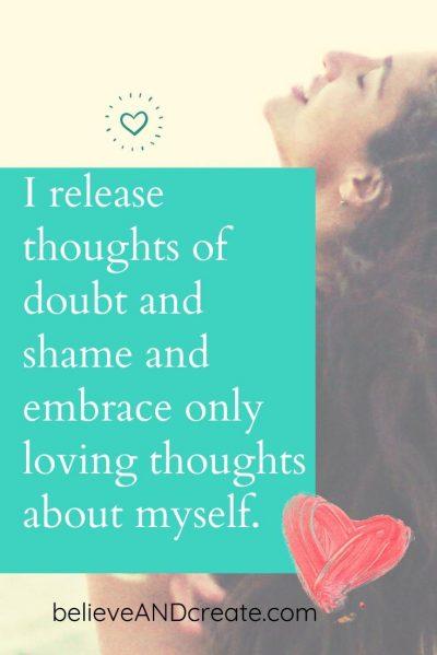 self-doubt affirmation - printable image